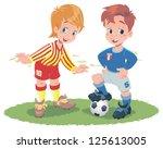 kids football | Shutterstock . vector #125613005