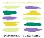 minimal label brush stroke... | Shutterstock .eps vector #1256143852