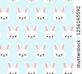 seamless pattern with cartoon... | Shutterstock .eps vector #1256145592