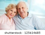 portrait of a candid senior... | Shutterstock . vector #125614685