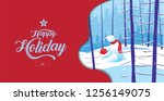 happy holiday  merry christmas  ... | Shutterstock .eps vector #1256149075