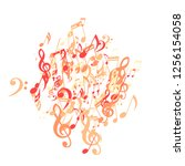 musical notes. abstract... | Shutterstock .eps vector #1256154058
