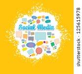 social media icon. social media ... | Shutterstock .eps vector #125615978