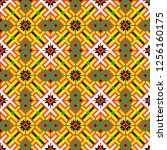 colored embroidery border.... | Shutterstock .eps vector #1256160175