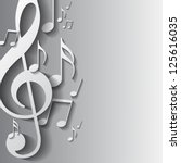 music note background design.... | Shutterstock .eps vector #125616035
