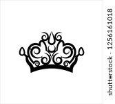 crown icon  crown vector art... | Shutterstock .eps vector #1256161018