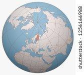 finland on the globe. earth...   Shutterstock .eps vector #1256166988
