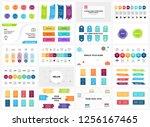 vector banners infographic... | Shutterstock .eps vector #1256167465