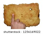 hand shows index finger on a... | Shutterstock . vector #1256169022
