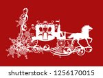 magic fairy tale carriage with... | Shutterstock .eps vector #1256170015