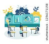 vector illustration office...   Shutterstock .eps vector #1256171158