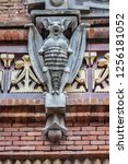 architectural fragments of... | Shutterstock . vector #1256181052