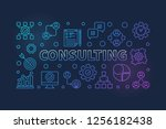 consulting concept business... | Shutterstock .eps vector #1256182438