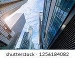 commercial buildings in... | Shutterstock . vector #1256184082