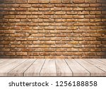 old wood plank with abstract...   Shutterstock . vector #1256188858