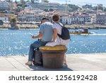 porto portugal   10 01 2018 ... | Shutterstock . vector #1256192428