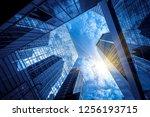 commercial buildings in... | Shutterstock . vector #1256193715