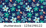 amazing floral vector seamless... | Shutterstock .eps vector #1256198122