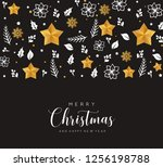 merry christmas and happy new... | Shutterstock . vector #1256198788