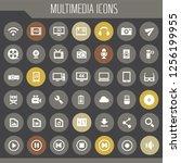 big multimedia icon set  trendy ... | Shutterstock .eps vector #1256199955