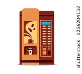 coffee vending machine with cup ... | Shutterstock .eps vector #1256204152