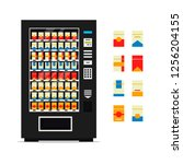 vending machine with cigarettes ... | Shutterstock .eps vector #1256204155