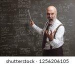 senior authoritarian professor... | Shutterstock . vector #1256206105