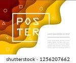 paper art abstract background... | Shutterstock .eps vector #1256207662