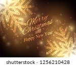 christmas  new year background. ... | Shutterstock .eps vector #1256210428