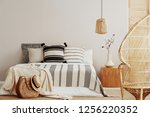 copy space on white empty wall... | Shutterstock . vector #1256220352