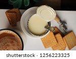 condensed milk with cookies and ... | Shutterstock . vector #1256223325