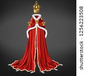 royal garment realistic vector... | Shutterstock .eps vector #1256223508