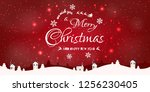 merry christmas and happy new... | Shutterstock .eps vector #1256230405