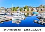 kennebunkport  maine united... | Shutterstock . vector #1256232205