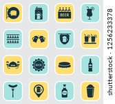 drink icons set with beer mug ... | Shutterstock . vector #1256233378