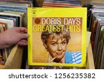 Small photo of MEPPEL, THE NETHERLANDS - NOVEMBER 30, 2018: Album: Doris Day's Greatest Hits, LP record of the American actress, singer, and animal welfare activist Doris Day, in a second hand store.
