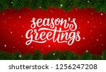 season greetings calligraphy... | Shutterstock . vector #1256247208
