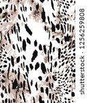 leopard fasion pattern | Shutterstock .eps vector #1256259808