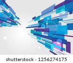 beautiful perspective shiny... | Shutterstock .eps vector #1256274175