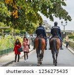 paris  france   oct 2  2018.... | Shutterstock . vector #1256275435