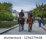 paris  france   oct 2  2018.... | Shutterstock . vector #1256275438
