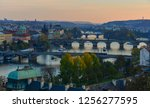 bridges of prague over vltava... | Shutterstock . vector #1256277595