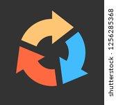 arrow reload  refresh  rotation ... | Shutterstock .eps vector #1256285368