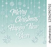 merry christmas and happy new... | Shutterstock .eps vector #1256290702