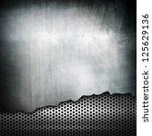 cracked metal plate | Shutterstock . vector #125629136