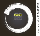 handwritten circle with vector... | Shutterstock .eps vector #1256325352