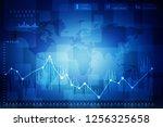 2d rendering stock market... | Shutterstock . vector #1256325658