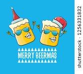 merry beermas vector christmas... | Shutterstock .eps vector #1256331832