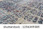 cars export terminal in export... | Shutterstock . vector #1256349385