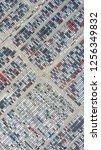 cars export terminal in export... | Shutterstock . vector #1256349832